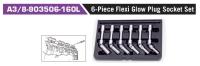 A3/8-903506-160L 6-Piece Flexi Glow Plug Socket Set