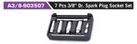 """A3/8-903507 7 Pcs 3/8"""" Dr. Spark Plug Socket Set"""