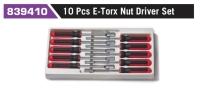 839410 10 Pcs E-Torx Nut Driver Set