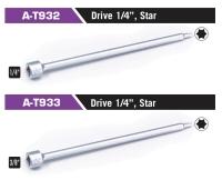 """A-T932/A-T933 Drive 1/4"""", Star"""