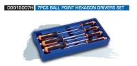 D0015007H 7PCS BALL POINT HEXAGON DRIVERS SET