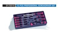 D172510 10 PCS PROFESSIONAL SCREWDRIVER SET