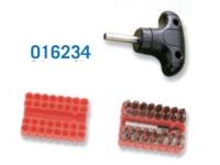 016234 34 pcs Short Shaft T-Handle Gearless Screwdriver set