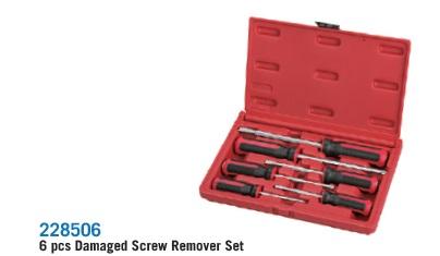 228506 6 pcs Damaged Screw Remover Set