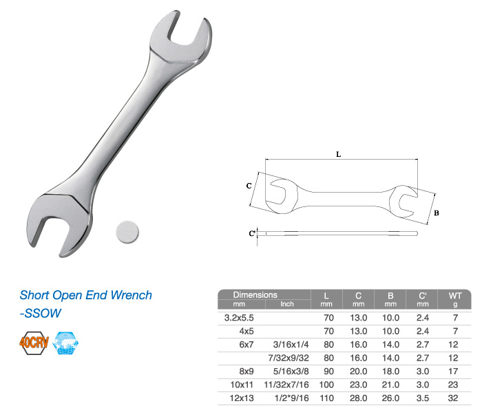 Short Open End Wrench-SSOW