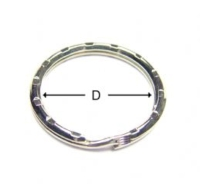 Pattern Type Key Ring / Ripple Key Ring