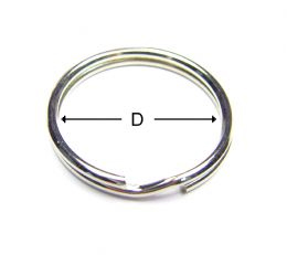 Standard Key Ring / Round Type Key Ring / Split Ring