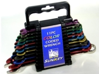 11pc Color Coded Wrench Set