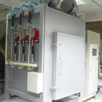 Two doors cart dewax furnace