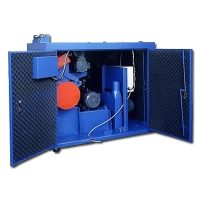 SOUNDPROOF STYLE-AUTO RESIDUAL MATERIAL TAKE-UP CRUSHER RECLAIMING MACHINE