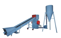 CONVEYOR+CRUSHER+BLOWER & CYCLONE