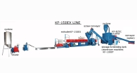 DOUBLE DEGASIFICATION GRANULF-MAKING MACHINE, FOR TREATMENT OF PLASTIC WASTE