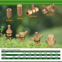 Brass fog nozzles & connectors