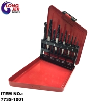 10PC SCREW EXTRACTOR AND DRILL BIT SET FOR REPAIR TOOLS