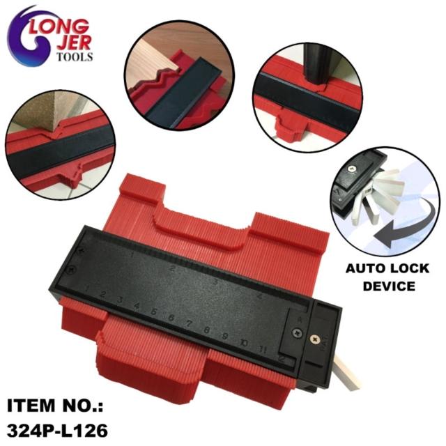 324P-L126 & 324P-L254 & 324P-L508 锁定式塑料仿形曲线规