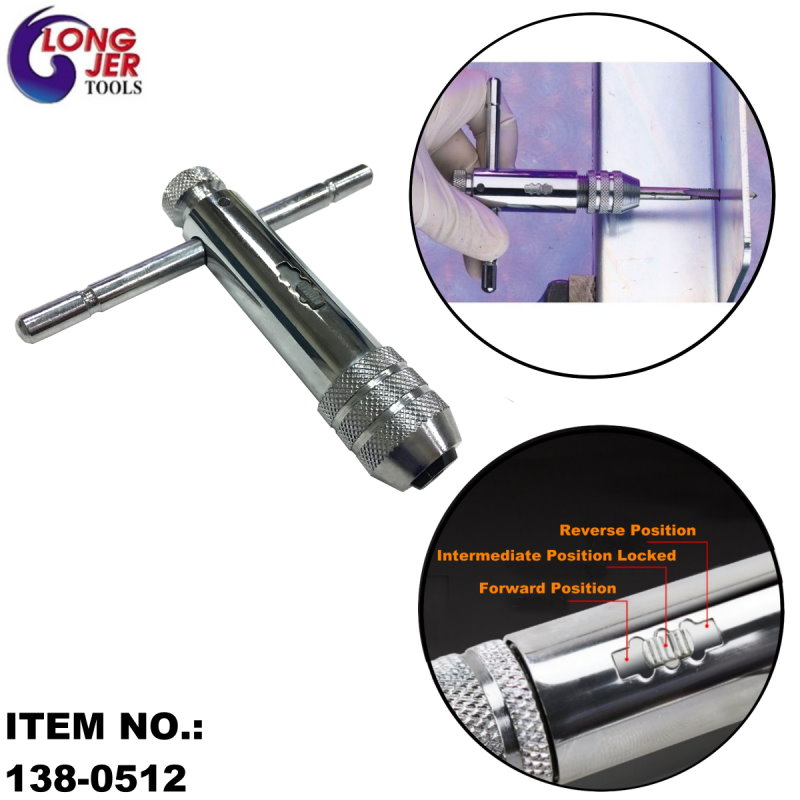 T-TYPE RATCHET TAP WRENCH