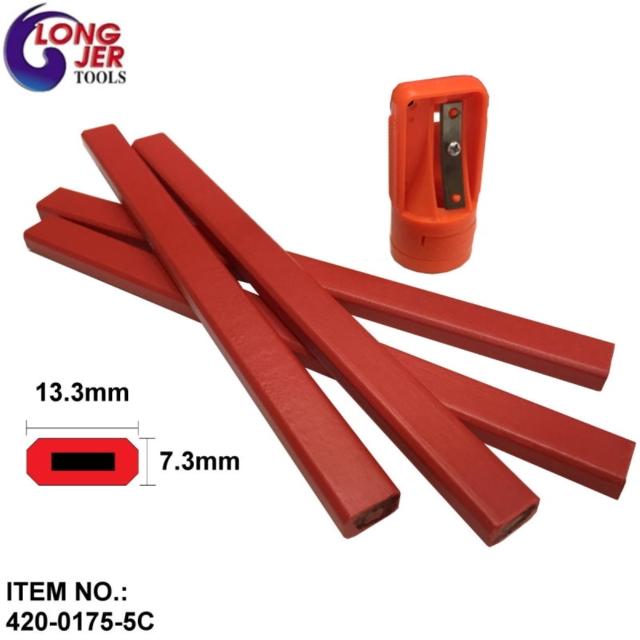 420-0175-5C  木工鉛筆 & 削筆器