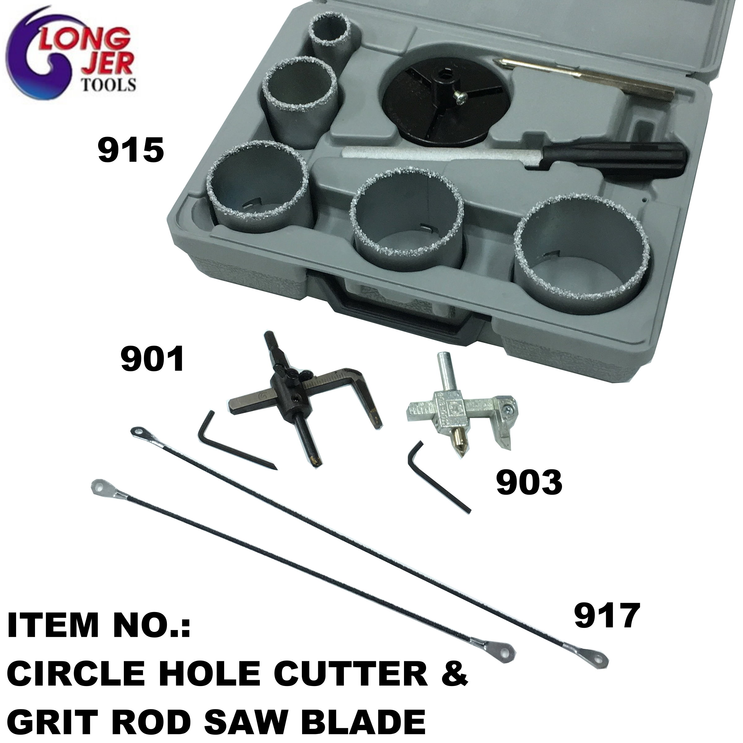 CIRCLE HOLE CUTTER & GRIT ROD SAW BLADE