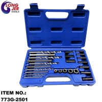 25PCS SCREW EXTRACTOR AND DRILL GUIDE FOR AUTO REPAIR TOOLS