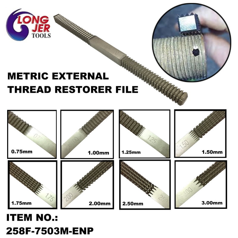 EXTERNAL THREAD RESTORER FILE & ELECTROLESS NICKEL PLATING METRIC EXTERNAL THREAD RESTORER FILE