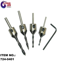 4PCS DRILL & COUNTERSINK SET