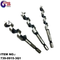 3PCS QUICK HEX-SHANK AUGER WOOD DRILL BIT SET