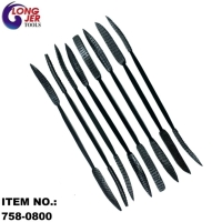 8PC RIFFLER DOUBLE-ENDED PROFILES RASPS SET