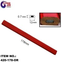 178mm RED OCTAGONAL CARPENTER PENCIL