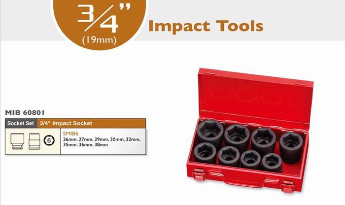 3/4 Impact Socket Set