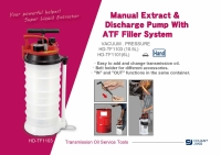 Manual Extract & Discharge Pump With ATF Filler System