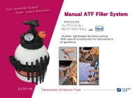 Manual ATF Filler System