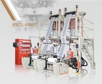 TWIN HEAD(A/B/A LAYER) HDPE / LDPE / LLDPE PLASTIC INFLATION MACHINE