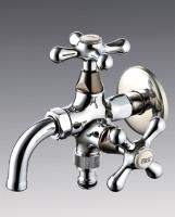 Dual-port 360° faucet, dual port 360° rotating long plug