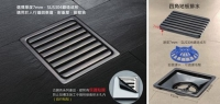 CENS.com Square Floor Drain (Bronze-Coloured)
