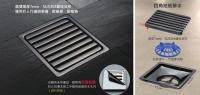 Square Floor Drain (Bronze-Coloured)