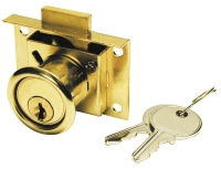 DRAWER LOCK STEEL OR BRASS WITH PLATED
