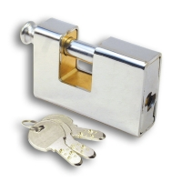 ARMORED RECTANGULAR BRASS                 PADLOCK