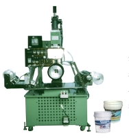 Cone/segment hot-stamping & full-color fixed-spot transfer-printing machine w/photoelectric cell