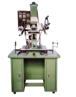 Automatic plane hot-stamping machine w/photoelectric cell