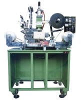 Fully-automatic plastic strip hot-stamping & transfer-printing machine
