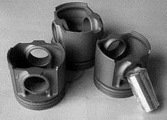 活塞銷, 活塞, 汽缸套, 活塞環, 油環