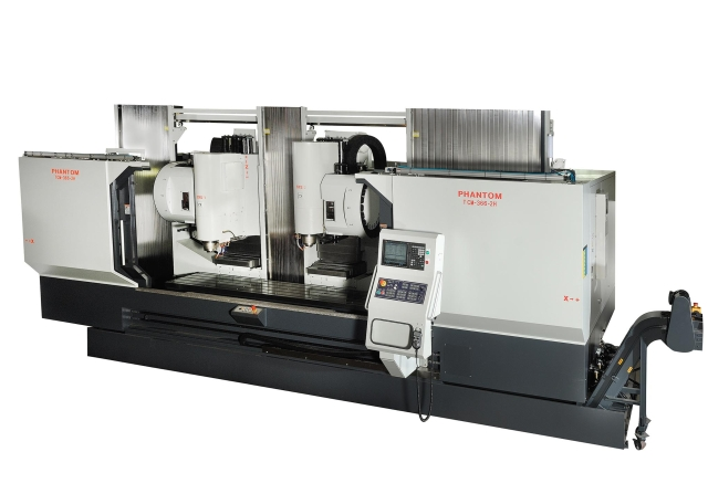 双主轴/双系统动柱式加工机