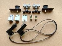 three Sliding door belt roller system