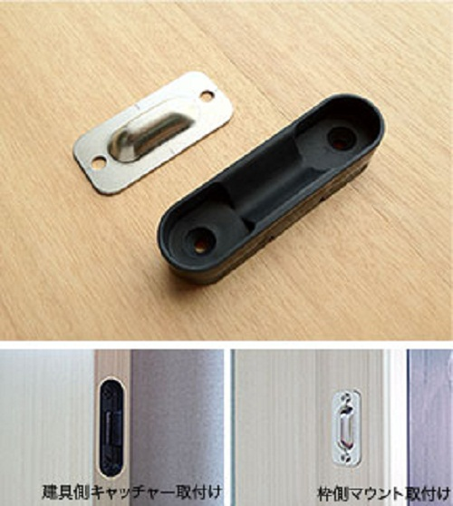 Sliding door magnetic guide