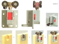 roller Embedded folding door gear system
