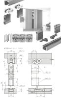 roller Easy installed folding door side hardware