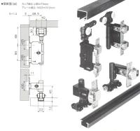 二维调整外置式摺门系统