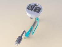 美式桌面電線蓋帶USB