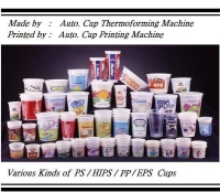 Auto Cup, Bowl, and Tube Printing Machines.