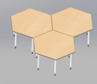 六角形學生書桌